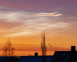 Polar stratospheric clouds over Oslo