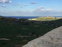 091_Rabat (SmoKingTiger1551) Tags: malta gozo isle mediterranean rabat citadel sea water hill meadow stonewall