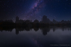 Milky Way above Manhattan (Classicpixel (Eric Galton) Photography Portfolio) Tags: milkyway voielactée newyork manhattan usa us sky ciel night nuit étoiles stars lake lac pond centralpark olympus ericgalton classicpixel em5markii luminar4 adobe lightroom landscape paysage building bâtiments city ville downtown centreville jacquelinekennedyonassisreservoir