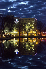 Reflection on a Cloudy Night (dramamath) Tags: mineralspringspark reflection nightshoot