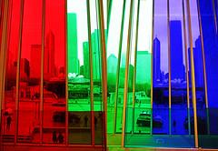 Technicolor Chicago (kirstiecat) Tags: diptych triptych color colour chicago city urban windows architecture moment life illinois america cityscape