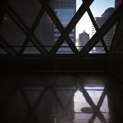 Seattle Public Library (gruefo) Tags: analog film 120mm sunset modern architecture citylife city urban mediumformat c220 mamiya