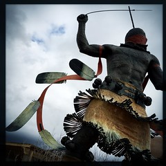 The beat goes on (mackerel*Sky) Tags: newmexico santafe sculpture theapachedancer museumhill