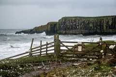 Flying foam & fences (odell_rd) Tags: fence northumberland foam dunstanburgh coth5