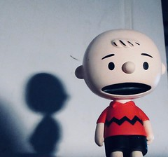 Charlie Brown Wearing a Red Shirt 1372 (Brechtbug) Tags: charlie brown snoopy medicom sunday funnies news paper comic strip characters action figures peanuts schultz charles film movie dog beagle pet dogs joe cool universe nyc 2019 toys toy blue red new york city animation christmas tv special halloween thanksgiving good old ole young