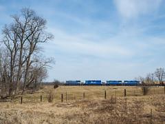 OSTN NB @ Oak grove, Michigan (Joseph Trepasso) Tags: trains railfans railroads ostn oakgrovemichigan gp382 sd402 gp35 greatlakescentral glc