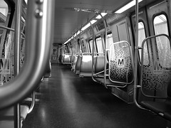 interior orange line metro rail dc (isiikhide) Tags: bw monochrome oldcamera 18 leicalook straightoutofcamera 5mp 25