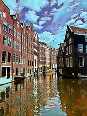 Visionist version, Amsterdam (kimbar/Thanks for 4.5 million views!) Tags: amsterdam canal canalhouses netherlands thenetherlands visionist holland northholland reflection