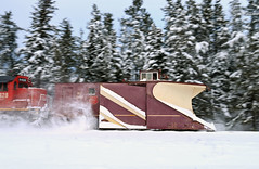 Dashing through the snow! (CN Southwell) Tags: wc wisconsin central russell snowplow plow pan winter pine trees
