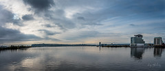 Open Water (RTA Photography) Tags: cardiff cardiffbay wales nikon d750 panoramic buildings sky open water outdoors reflections rtaphotography clouds