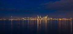 Seattle December Evening (www.mikereidphotography.com) Tags: seattle skyline reflection gfx50s
