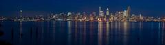 Seattle Night Skyline (www.mikereidphotography.com) Tags: seattle skyline reflection gfx50s