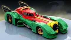 Robinmobile (DallenPowell) Tags: lego batman bat mobile batmobile robin robinmobile studio render