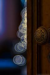 Inside the Magic Chamber (christopherdeacon) Tags: winter newyork christmas door dof bokeh manhattan shallowdof meyeroptik meyeroptiktrioplan fujifilmxt1 meyeroptiktrioplan100mm
