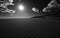 Desert Star (KC Mike Day) Tags: dunes sand great park national colorado canon 1635l lines climb hiking star desert sun