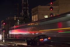 Taking a wrong turn (Patrick Dirden) Tags: accident drunkdriver car vehicle motion blur nightphotography rail railroad train passengertrain amtraktrain amtrak amtrakcalifornia amtrakcapitol capitolcorridor oakland oaklandca jacklondonsquare alamedacounty eastbay bayarea northerncalifornia california