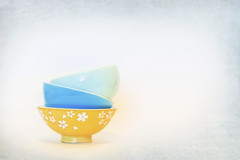 more than enough (rockinmonique) Tags: kirstenfranktexture bowls highkey stilllife yellow blue green texture moniquewphotography canon canont6s tamron tamron45mm copyright2019moniquewphotography