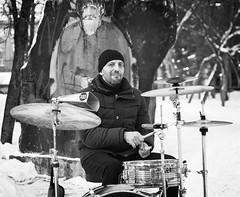 Илья Григорьев (ebruskov) Tags: city citystreet cityscape life man music novosibirsk park pedestrian people russia siberia sidewalk snow street streetlife streetphotography townscape winter