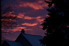 Pink and purple (Marcy O) Tags: 2019 sunset winter wisconsin