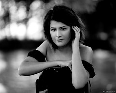 Megan (Ray Akey - Photographer) Tags: beautiful lady female girl woman attractive pretty megan portrait silver monochrome bnw blackandwhite white black