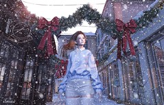 ~ Snowfall ~ (Koffitear) Tags: secondlife sintiklia second life lyrium dubai event genus mel pose lotd christmas snow