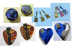 Bead Comparison (SomewhatOdd) Tags: resin tutorial mixedmedia polymerclay polyclay premo fimo technique gold sculpey silver howto instructions clay liquidclay teach learn uvresin ultraviolet sun swarovskicrystals project projects metallic metal resincrafts polymerclaytutorial