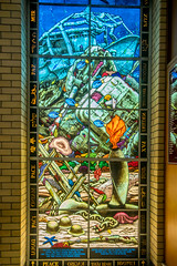 Isaiah 2:4 (agasfer) Tags: 2019 australia queensland cairns church stainedglass windows pentax k3 sigma1020