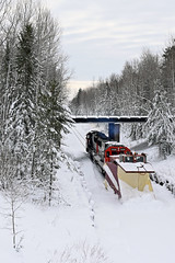 CN's WC blizzard plow (CN Southwell) Tags: cn wc wisconsin central rr russell plow snowplow 2019 december blizzard superior