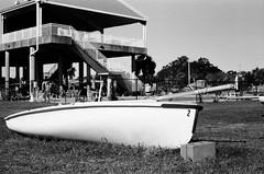 Skiff 2 (MFBodisch) Tags: skiff boat sailing long beach yacht club sand gulfofmexico mississippi usa canon ftbn vintage camera 50mm f18 sc lens kodak trix 400 35mm film skylight filter
