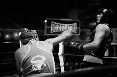 45847 - Dodge (Diego Rosato) Tags: boxe boxing pugilato boxelatina ring match incontro nikon d700 tamron 2470mm rawtherapee bianconero blackwhite pungo punch dodge schivata hook gancio