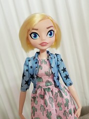 Doll FACE (The Dollhouse of Usher) Tags: supergirl doll hybrid blonde barbie barbiefashion madetomove cute dollface