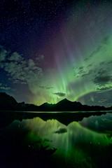 Almost 3am August 23 (John Andersen (JPAndersen images)) Tags: kananaskislake alberta nightsky auroraborealis rokinon14mm canon6d luminar