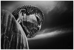 Cabeza de Buda, Kamamura (Japón) (bit ramone) Tags: japón kamamura japan buda bitramone travel viajes blancoynegro blackandwhite