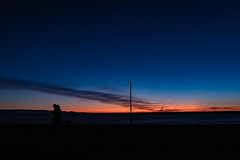 bluemoment (makriver) Tags: seaside park people xf16mmf14 xt3 fujix fujifilm colour seascape gradation cloud sky dark shadow silhouette orange blue bluemoment magichour sunset sea
