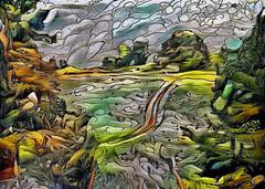 Lens & Brush 23 (V_Dagaev) Tags: art landscape nature trees field road digital dynamicautopainter visualdelights painterly painting painter paintingsfromphotos paint
