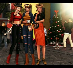 LOOK-1032:Ammy, Jú and Kiara began preparations for Christmas on the street where they live 🔔👢👗💋💋 (Julia Pariz) Tags: belle fameshed level thearc uber addams bleich evani gaia glama grailed kitja lagyo minimal mossmink truth utopia