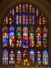 Trinity Church Windows Manhattan (gerard eder) Tags: world travel reise viajes america usa unitedstates northamerica newyork manhattan church iglesia kirche trinitychurch sacral sacralbuilding stainedglasses interior