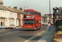 25 July 1989 Haydons Road (togetherthroughlife) Tags: 1989 july wimbledon haydonsroad bus suttonbus 200 thx609s dms2609