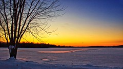 Frozen in Time (Bob's Digital Eye 2) Tags: bobsdigitaleye2 canon dec2019 dusk efs1855mmf3556isii lake lakesunsets lakescape minnesota silhouette sky sunset sunsetsoverwater flicker flickr ice snowscene snow frozenlake landscape