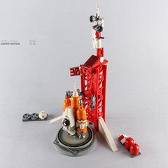 MICRO LAUNCHPAD TOWER (Pierre E Fieschi) Tags: lego legomoc legocreation legomicro microscale mcirospace legocity moc afol launchpad spaceship tower spacecraft rocket booster launcher nasa pierree pierre fieschi concept