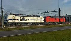 Ich bin ein Europäer (Peter ( phonepics only) Eijkman) Tags: amsterdam cargo spoorwegen spoor eloc db rail rails railways railway nederland netherlands nederlandse noordholland holland treinen trein tren trains train trainyard