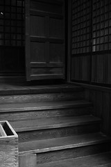 We only see what we know. (avawoodworth) Tags: tokyo japan december 2019 architecture shadow step outside entrance front monochrome bw blackandwhite blackwhite building steps door