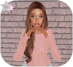 💗 (Owner of [B]odylicious-SL) Tags: sl secondlife second life female ava avatar woman women girl girly fashion cute kawaii sexy hot blog bloggerin ruby von hinten brunette stealthic long hair nerido pullover sweater pink blue eyes euphoric