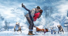 My life is not perfect, but every moments by your side is. (brian.werefox) Tags: findyours tmd k luanes world notsobad nutmeg catwa signature secondlife avatars friends dogs love winter snow