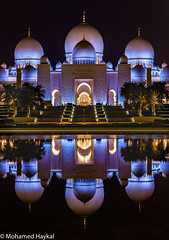 Sheik Zayed Grand Mosque (Mohamed Haykal) Tags: abu dhabi emirate united arab emirates hasselblad x1dii mohamed haykal sheikh zayed mosque yousef abdelky uae outdoor reflections photography landmark large worship prayers destination tourist travel night illumination purple nightshot bin sultan nahyan alkarama attraction xcd135 135mm