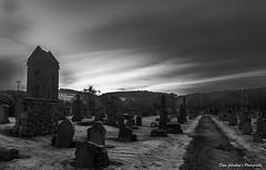 Sunset over Graveyard B&W-1 (Dave The Bluesman.) Tags: canoneos70d bw efs1855mmf3556isstm peebles graveyard sunset unlimitedphotos