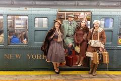 Holiday Nostalgia Train (wanderinginsomnia) Tags: newyorkcity newyorktransitmuseum usa subway nostalgiatrain manhattan newyork holidaytrain