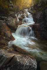 Autumn cascades (Ron Jansen - EyeSeeLight Photography) Tags: norway autumn rondane cascade falls multiple water flow light colors rock rocks orange troll oppland