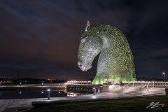 Rise Into Space (TVZ Photography) Tags: kelpies helix park sculpture art horses equine falkirk scotland architecture sky night evening lowlight longexposure sonya7riii zeiss loxia 21mm