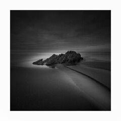 OUTFLOW !!! (Nick green2012) Tags: blackandwhite square whitsands longexposure silence beach